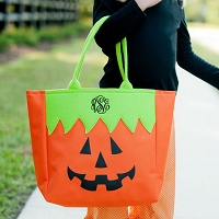 Halloween Pumpkin Trick or Treat Candy Tote