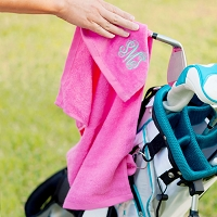 Pink Golf Towel