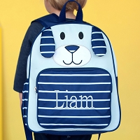 Navy Puppy Preschool Backpack