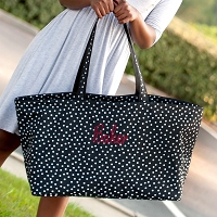 Black Scattered Polka Dot Ultimate Tote