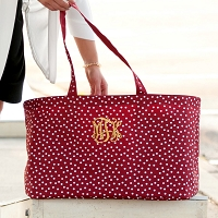Garnet Scattered Polka Dot Ultimate Tote