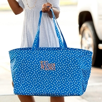 Royal Scattered Polka Dot Ultimate Tote
