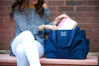 Navy Carry All Tote