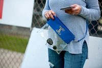 Royal Blue Game Day Clear Crossbody Purse