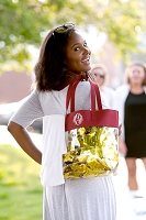 Garnet Clear Game Day Tote