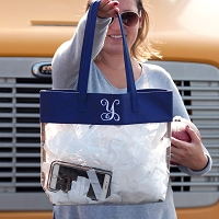 Navy Clear Game Day Tote
