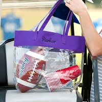 Purple Clear Game Day Tote