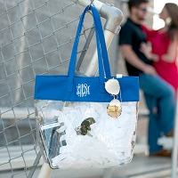 Royal Clear Game Day Tote