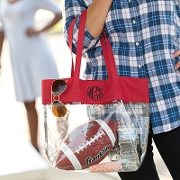 Red Clear Game Day Tote