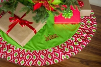 Ikat Ruffle Christmas Tree Skirt