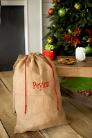 Burlap Stripe Santa Sack Bag