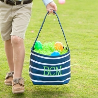 Navy Stripe Easter Basket