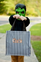 Halloween Stripe Trick or Treat Candy Tote