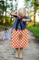 Halloween Polka Dot Trick or Treat Candy Tote