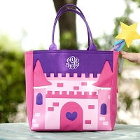 Halloween Princess Castle Trick or Treat Candy Tote