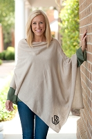 Monogrammed Creme Chelsea Poncho