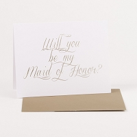 Maid of Honor Note Card