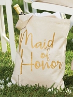 Maid of Honor Canvas Tote by Mud Pie