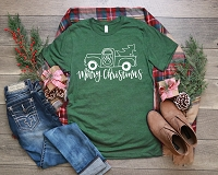 Long Sleeve Merry Christmas Ole Red Truck T-Shirt