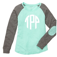 Mint Preppy Patch Tee