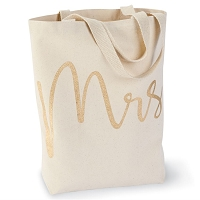 Mrs Canvas Tote by Mud Pie