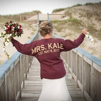 Oversized Mrs. Bride Honeymoon Engagement Pom Pom Spirit Jersey