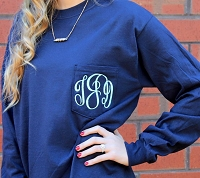 Long Sleeve Monogram Pocket T-Shirt