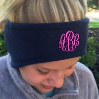 Navy Fleece Headband Ear Warmer