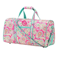 Personalized Lizzie Paisley Duffel Bag