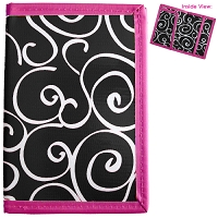 Black Swirl Passport Cover