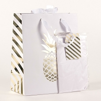 Pineapple Gift Bag with Tissue