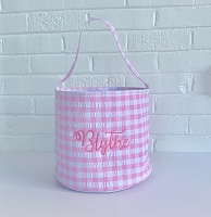 Pink Gingham Easter Basket