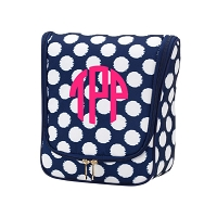 Polly Dot Hanging Toiletry Travel Case
