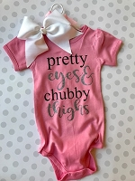 Pretty Eyes Chubby Thighs Baby Onesie