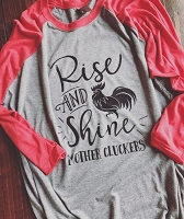 Rise & Shine Mother Cluckers Raglan Shirt