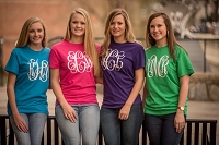 Short Sleeve T-Shirt w/Extra Large Monogram
