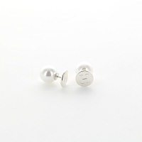 Sterling Silver and Pearl 360° Earring