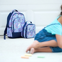 Sophie Paisley Backpack & Lunch Bag SET