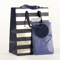 Striped Gift Bag with Tissue