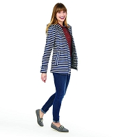 Navy Stripe New Englander Rain Jacket