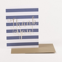 Striped Thank You Note Card