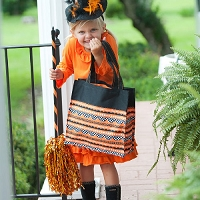 Halloween Ric Rac Trick Or Treat Candy Tote