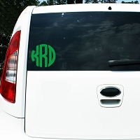 5 Inch Circle Monogram Vinyl Decal