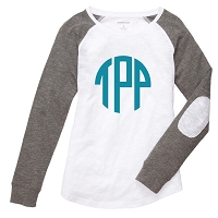 White Preppy Patch Tee