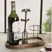 CORKSCREW WINE CADDY by Mud Pie