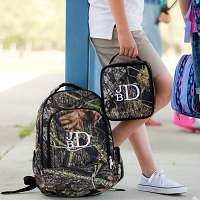 Woods Camo Backpack & Lunch Bag SET