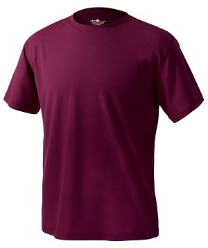 Maroon Men's Pique Wicking Tee - XLarge