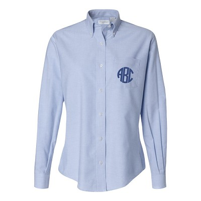 Monogrammed Ladies Classic Blue Oxford