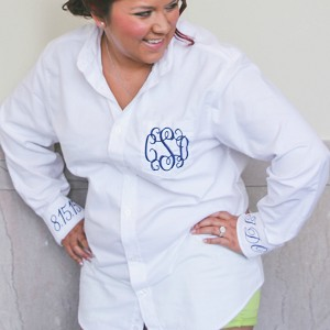 Oversized Classic White Oxford Bride Shirt