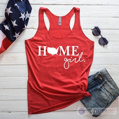 Home Girl USA Racerback Tank Top